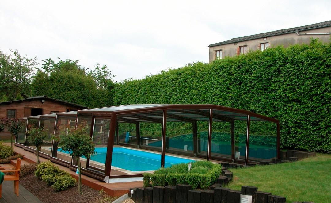 Abri piscine semi haut interm diaire abris piscines conseils for Abri piscine haut occasion
